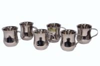 RISHI METAL STAINLESS STEEL CUP MUG (SMALL DILRUBA) FOR TEA COFFEE (PACK OF 6) Steel(Steel, Pack of 6)