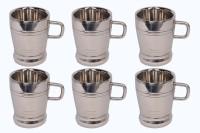 RISHI METAL STAINLESS STEEL CUP MUG (SMALL PREMIER DELUX) FOR TEA COFFEE (PACK OF 6) Steel(Steel, Pack of 6)