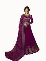 Fashionuma Georgette Embroidered Salwar Suit Material(Unstitched)