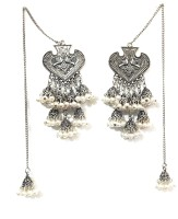 ACHALOPAMAH Fashion and Stylish Jhumki With Chain For Girls & Women (With Long Chain) German Silver Jhumki Earring