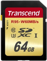 Transcend High Speed 10 UHS-3 Memory Card 95/60 MB/s 64 GB MicroSDXC Class 10 95 MB/s  Memory Card