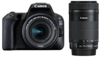 Canon EOS 200D DSLR Camera Body with Dual Lens: EF-S18-55 IS STM + EF-S 55-250 IS STM (16 GB SD Card + Camera Bag)(Black)