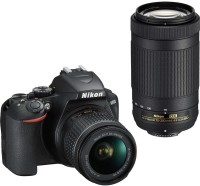 Nikon D3500 DSLR Camera Body with Dual lens: 18-55 mm f/3.5-5.6 G VR and AF-P DX Nikkor 70-300 mm f/4.5-6.3G ED VR(Black)