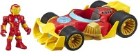 SUPER HERO ADVENTURES Playskool Heroes Marvel Iron Man Speedster, 5-Inch Figure and Vehicle Set, Collectible Toys for Kids Ages 3 and Up(Multicolor)