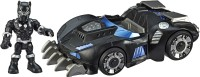 SUPER HERO ADVENTURES Playskool Heroes Marvel Black Panther Road Racer, 5-Inch Figure and Vehicle Set, Collectible Toys for Kids Ages 3 and Up(Multicolor)