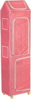 NHR Polka 7, Pink PVC Collapsible Wardrobe(Finish Color - Pink)