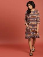Taavi Women A-line Beige Dress