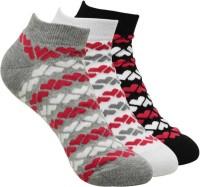 BALENZIA Women Printed Ankle Length Socks(Pack of 3)