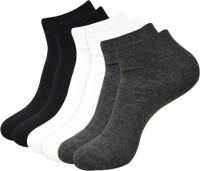 Balenzia Men Solid Ankle Length Socks(Pack of 3)