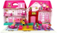 JohnMacc My Happy Family Doll With House Set Battery Operated Toy Set For Kids(Multicolor)