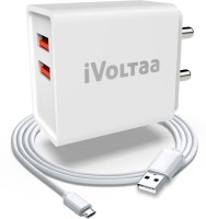 iVoltaa FuelPort 2.4 12 W 2.4 A Multiport Mobile Charger with Detachable Cable(White, Cable Included)