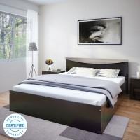 Flipkart Perfect Homes Carol Engineered Wood King Bed(Finish Color -  Dark wenge)