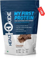 HEALTHOXIDE My First Protein with whey, casein & pea, Chocolate Whey Protein(1 kg, Chocolate)