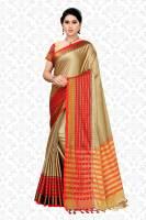 Divastri Striped, Solid, Woven Fashion Cotton Silk Saree