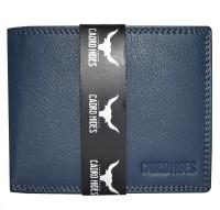 CADROHIDES Men Blue Genuine Leather Wallet(9 Card Slots)