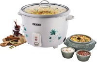 Usha MC-3710 Electric Rice Cooker with Steaming Feature(1 L, White)