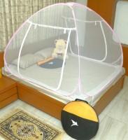 Flipkart SmartBuy Regular Single Yarn Double Bed Mosquito Net(Pink)