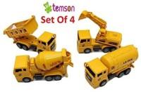 TEMSON Mini Construction Vehicles Set(Multicolor)