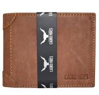 CADROHIDES Men Tan Genuine Leather Wallet(8 Card Slots)
