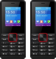 I Kall K44 Combo of Two Mobiles(Black&Red)