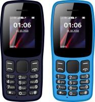 I Kall K14 Combo of Two Mobiles(Light Blue&Dark Blue)