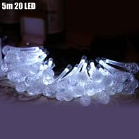 Christmas Tree Decors 5m 20 LED Solar String Light Water Drop Shape Lamp Xmas Tree Ornament(Pack of 1)