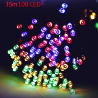 VCT - SIC056 Christmas Tree Decors 15m 100 LED Solar String Light Xmas Ornament New Year Decoration(Pack of 1)