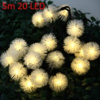 Christmas Tree Decors 5m 20 LED Solar String Light Chuzzle Shape Lamp Xmas Tree Ornament(Pack of 1)