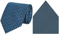 Tiekart cool combos blue tie+pocketsquare