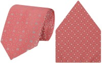 Tiekart cool combos pink tie+pocketsquare