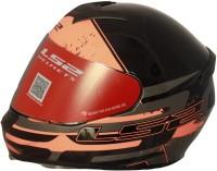 LS2 Combat Gloss Black Grey Orange Motorbike Helmet(Black, Grey, Orange)