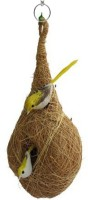 Comfort liveonce hand made pure coir bird nest with replace coir bed Bird, Hamster, Dog, Cat, Mouse, Rabbit, Snake House