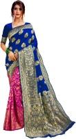 GADARA FASHION Self Design Fashion Jacquard Saree(Blue)