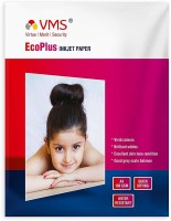 VMS Eco Plus 180 GSM Photo Paper Water Resistant Quick Drying High Glossy Inkjet Photo Paper A4 (210 x 297mm) 180 GSM A4 Photo Paper (Set of 1-20 Sheets) Unruled A4 180 gsm Photo Paper(Set of 1, White)