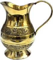 Divine Temples Designer Puja Jug (9.5 cm Height) Brass Kalash(Height: 4 inch, Gold)