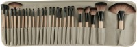 Rozia 24 Professional Makeup Brushes Kit Wooden Handle With Leather Pouch(Pack of 24)