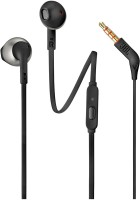 JBL T205 Wired Headset(Black, Wired in the ear)