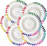 One Personal Care Pack of 240 Colorful Ball Pins for Stole, Abaya, Hijab & Scarf Brooch(Multicolor)