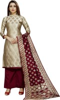 INDIAN CULTURE Brocade Woven Salwar Suit Material(Unstitched)