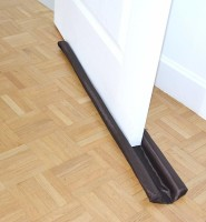 House of Quirk Twin Door Draft Guard. Stop Unwanted light and Stop escaping of cool air from air conditioner split or Window Door Mounted Door Stopper(Brown)