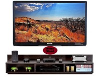 Home wood TV entertainment unit Engineered Wood TV Entertainment Unit(Finish Color - Brown, DIY(Do-It-Yourself))