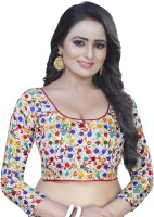 INDIAN BEAUTIFUL Art Silk Printed Blouse Material(Unstitched)