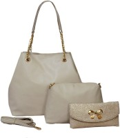 Nevis Women Beige Shoulder Bag(Pack of: 3)