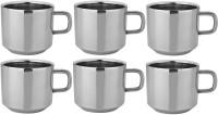 RISHI METAL RISHI Metal Stainless Steel Cup Mug for Tea & Coffee (TEA) - Set of 6 - 100ml Steel(Steel, Pack of 6)