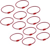 One Personal Care Pack of 12 Plain Charming & Colorful Elastic Essentials, Handy Baby Hair Ties Rubber Band, Hair Accessory Set(Red)
