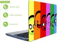 doodad Smileys Premium Vnyl Laptop Decal 15.6