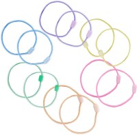 One Personal Care Pack of 12 Plain Charming & Colorful Elastic Essentials, Handy Baby Rubber Band(Multicolor)