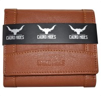 CADROHIDES Men Tan Genuine Leather Wallet(7 Card Slots)