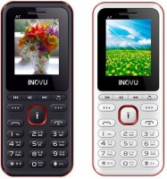 Inovu A7 Combo Of Two Mobiles(White&Red, Black&Red)
