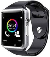 Roboster A1 Heart Rate Monitor & Activity Tracker Multicolor Smartwatch(Black Strap, M)